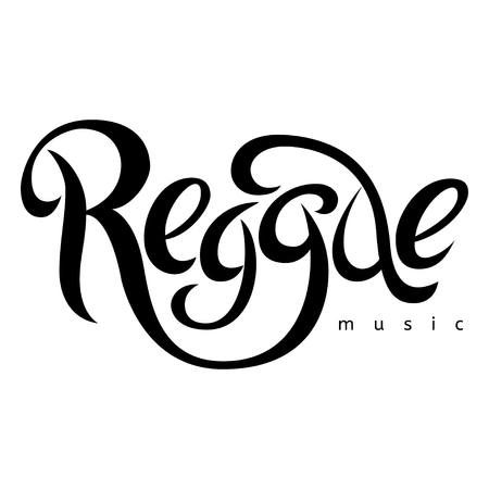 rastaman: Modern lettering poster in reggae style. Vector isolated typography for your design. Illustration