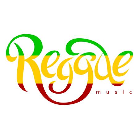 reggae: Modern lettering poster in reggae style. Vector isolated typography for your design. Illustration