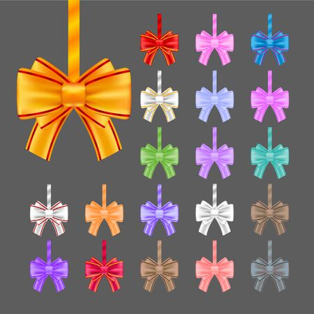 ribbons and bows: Big set of colorful gift bows with ribbons. Vector illustration for your design