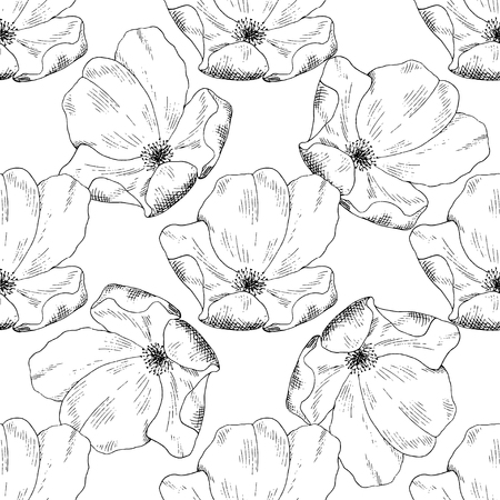 briar: Seamless sketch briar template background. Vector illustration for your design Illustration
