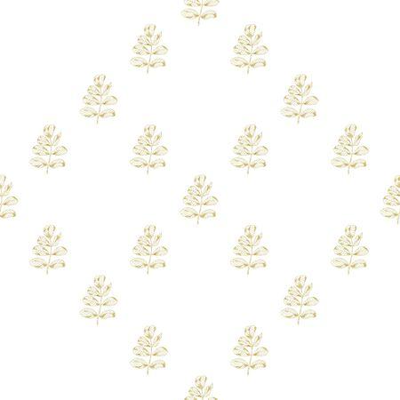 Goldene Skizze Bruyère Dekor nahtlose Muster. Vektor-Illustration für Ihr Design