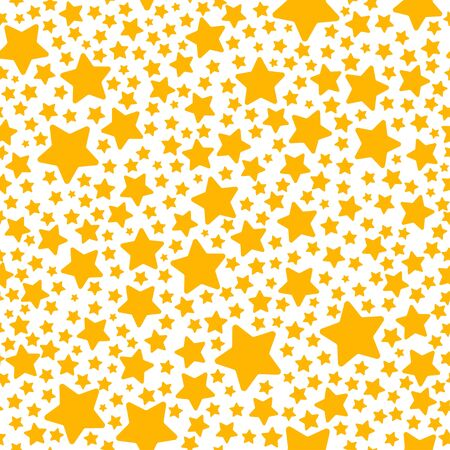 yellow star: Holiday gift seamless pattern with yellow star. Vector illustration for your design Illustration
