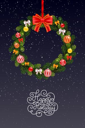 Carte Cadeau De Vacances Avec Lettrage A La Main Joyeuses Fetes Et