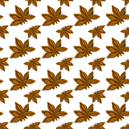 seamless pattern with anise. Hand drawn botanic design. Template for a banner, poster, notebook, invitation. Illustration for your design