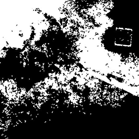 Texturas grunge negro sobre fondo blanco. Plantilla para pancarta, póster, cuaderno, invitación, diseños retro y urbanos con texturas grunge de tinta dibujadas a mano modernas Ilustración vectorial Ilustración de vector