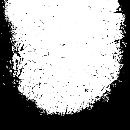 Grunge black textures on white background. Template for a banner, poster, notebook, invitation, retro and urban designs with modern hand drawn ink grunge textures. Vector illustration