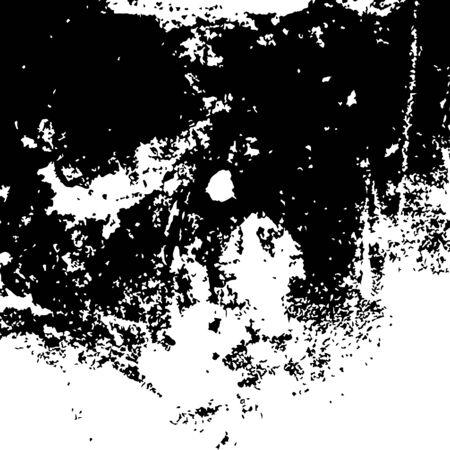 Grunge black textures on white background. Vector Ilustração