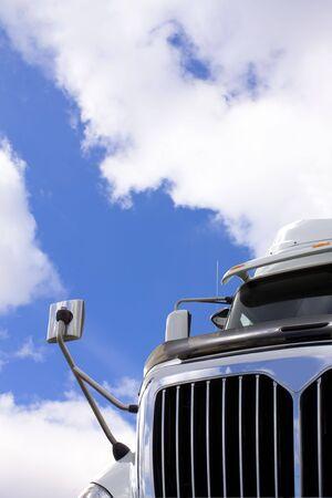 Transport Truck against sky