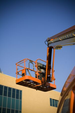 Mobile crane and building