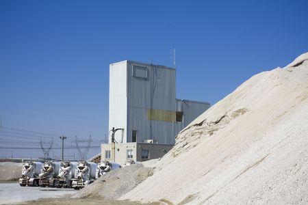 Cement production plant Stock fotó