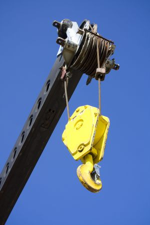 Mobile crane pulley photo