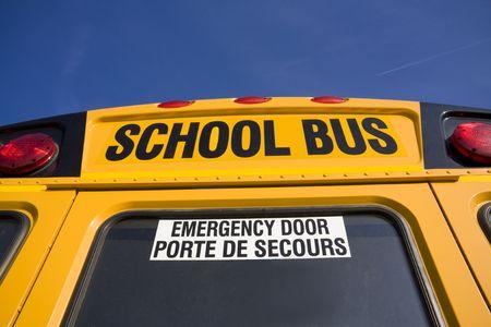 School buses from behind Stock fotó