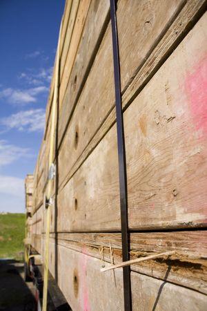 Truck transporting wood Stock fotó