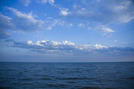 Monochromatic sky and lake