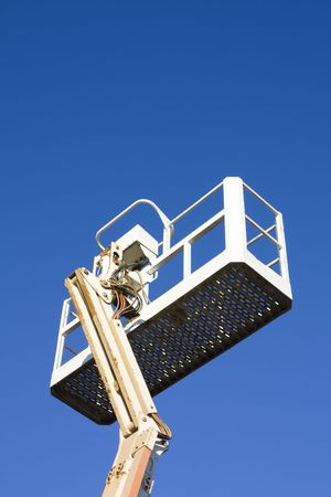 Mobile crane basket Stock fotó