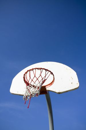 the height of a rim: Old basketball hoop