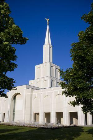 Modern mormon church Stock fotó