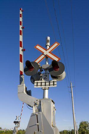 Railroad crossing Stock fotó