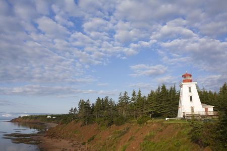 nfld: Lighthouse overlooking Cape Bear PEI