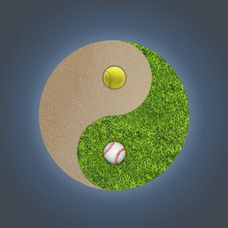 Yin-yang abstract sport concept Stock Photo