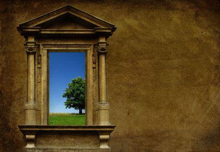 The Door to Eternal Paradise Stock Photo