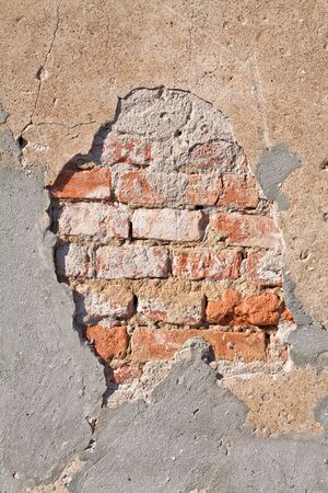 brick wall with the hole