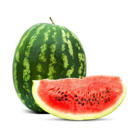 Big red watermelon isolated on white background