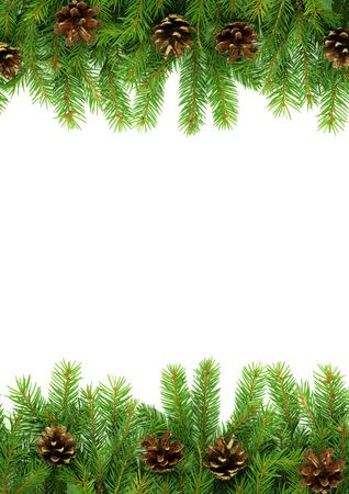 Christmas green  framework isolated on white background Stock Photo - 5790073