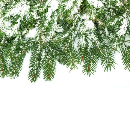 Christmas framework with snow isolated on white background Stock Photo - 5790063