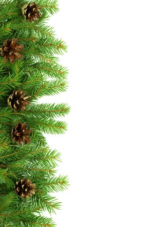 Christmas green  framework isolated on white background Stock Photo - 5790081