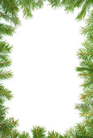 Christmas green framework isolated on white background Stock Photo - 5790082