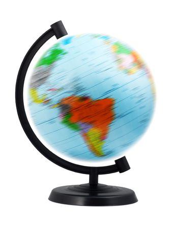 terrestre: Globo terrestre isolato su uno sfondo bianco