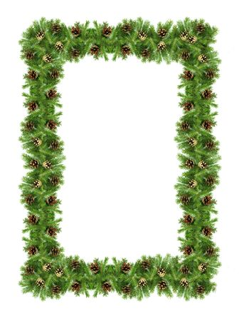 Christmas green  framework isolated on white background Stock Photo - 5882843