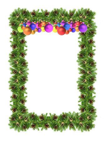 Christmas green  framework isolated on white background Stock Photo - 5900444