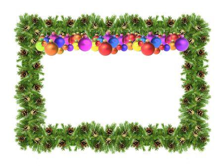 Christmas green  framework isolated on white background Stock Photo - 5900486