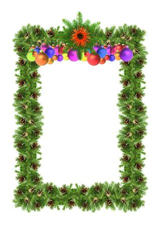 Christmas green  framework isolated on white background photo