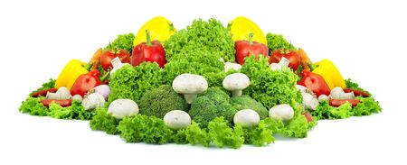 Assorted fresh vegetables isolated on white background Stock Photo - 6195347