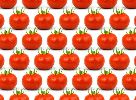 Red tomatos isolated on a white background photo