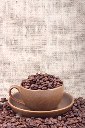 Cup of coffee. Shot in a studio photo