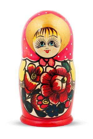 Russian Doll. Isolated on a white background Stock Photo - 6589474