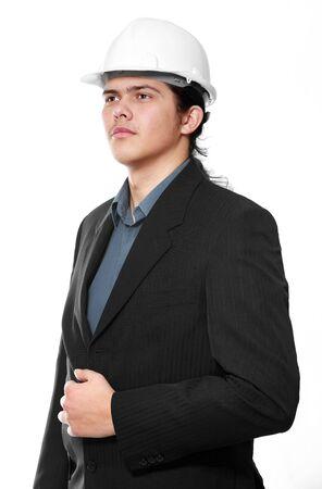 Senior architect isolated on a white background Stock Photo - 6597877