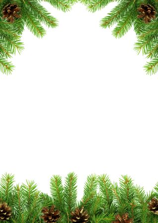 Christmas green  framework isolated on white background Stock Photo - 7527818