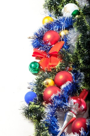 Christmas decoration and toy on a white background Stock Photo - 7742543