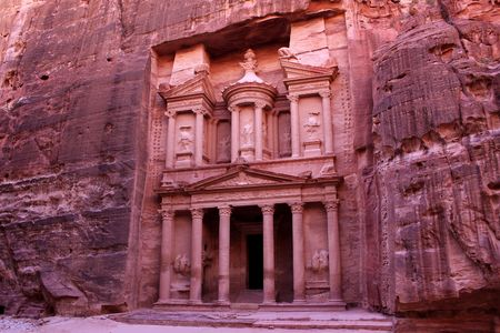 of petra: Ancient City of Petra Built in Jordan Stock Photo