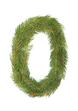 NUMBER 0 - Christmas tree decoration - part of a full set Stock Photo - 8029175