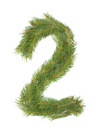 NUMBER 2 - Christmas tree decoration - part of a full set Stock Photo - 8029164