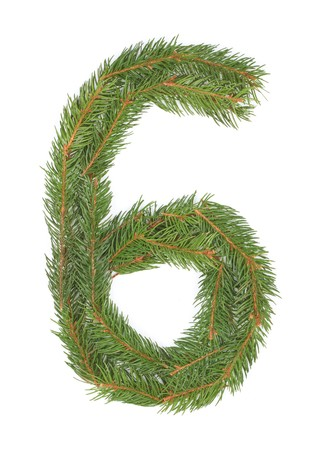 NUMBER 6 - Christmas tree decoration - part of a full set Stock Photo - 8029166