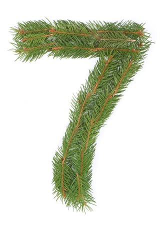 NUMBER 7 - Christmas tree decoration - part of a full set Stock Photo - 8029160