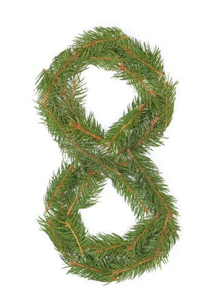 NUMBER 8 - Christmas tree decoration - part of a full set Stock Photo - 8029165