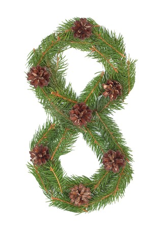 NUMBER 8 - Christmas tree decoration - part of a full set Stock Photo - 8056287